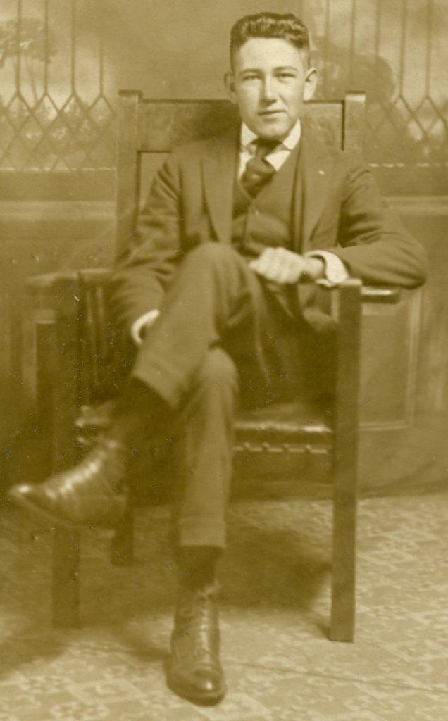Geoffrey Perrier in his high school graduation portrait, ca. 1917.