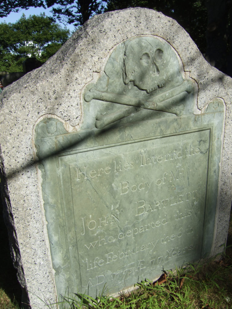 Gravestone of John Bartlett d. 1775