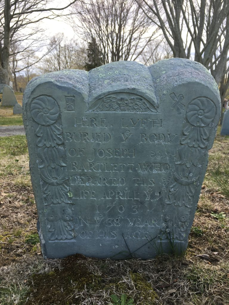 Headstone of Joseph Bartlett d. 1703