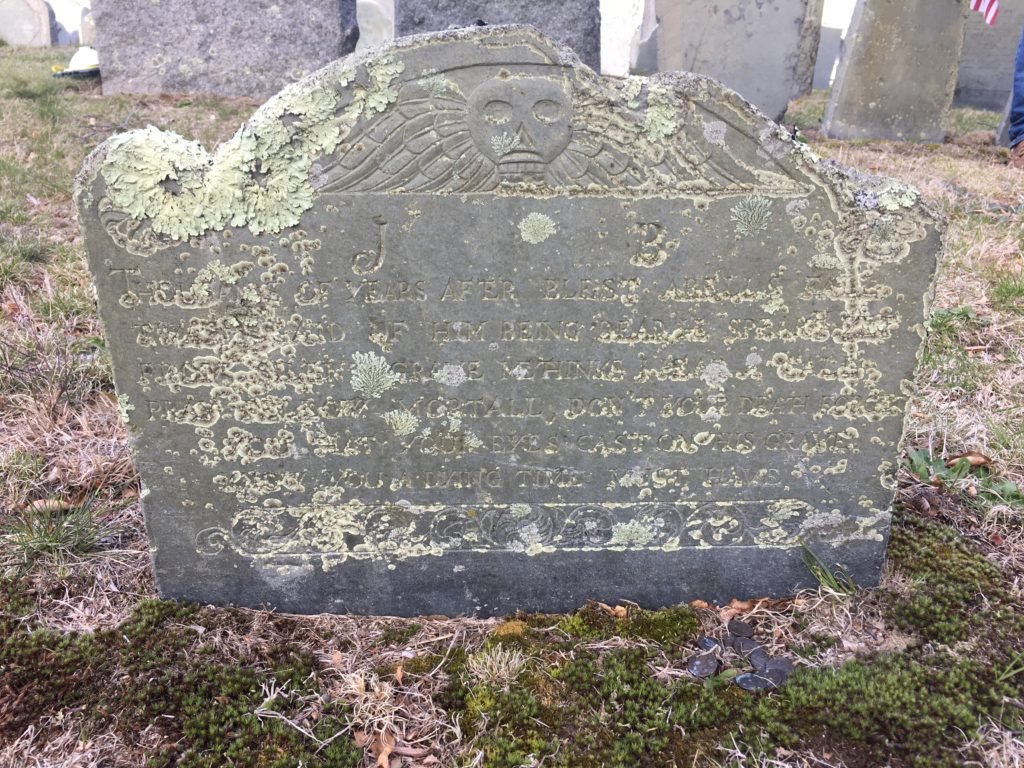 Footstone of Joseph Bartlett d. 1703