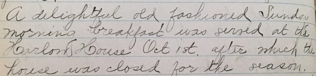 Excerpt from the minutes of the Plymouth Antiquarian Society's 1933 Annual Meeting (PAS Archives)